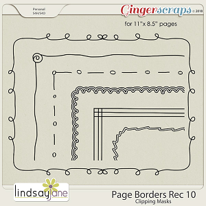 Page Borders Rec 10 by Lindsay Jane