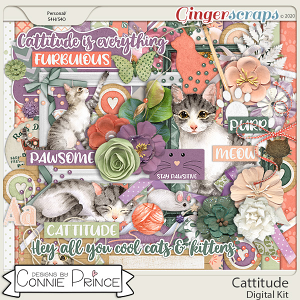 Cattitude - Kit by Connie Prince