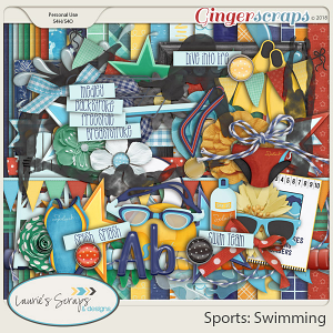 Sports: Swimming Page Kit