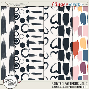 Painted Patterns - VOL 02 - by Neia Scraps - CU