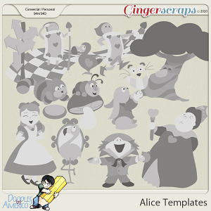 Doodles By Americo: Alice Templates