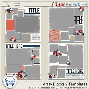 Artsy Blocks 9 Templates by Miss Fish
