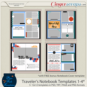 Traveler's Notebook Templates 1-4 by Miss Fish