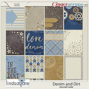 Denim and Dirt Journal Cards by Lindsay Jane