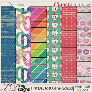 First Day To (Online) School: Worn Out Papers by LDragDesigns
