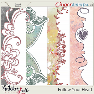 Follow Your Heart Borders 2 by Snickerdoodle Designs