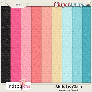 Birthday Glam Embossed Papers by Lindsay Jane