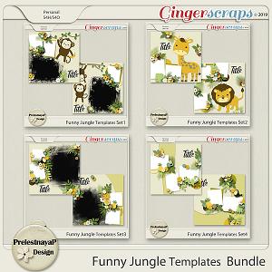 Funny Jungle Templates Bundle