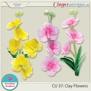 CU 37- Clay flowers