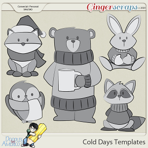 Doodles By Americo: Cold Days Templates