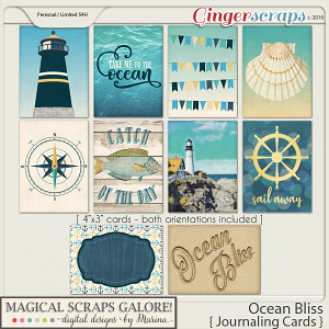 Ocean Bliss (journaling cards)