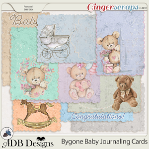 Bygone Baby Journal Cards by ADB Designs