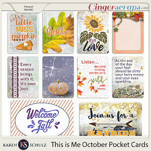 This is Me October Pocket Cards by Snickerdoodle Designs