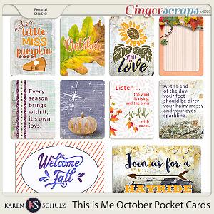 This is Me October Pocket Cards by Karen Schulz