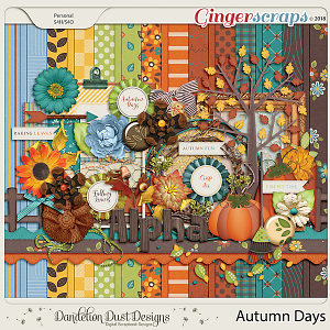Autumn Days Digital Scrapbook Kit By Dandelion Dust Designs