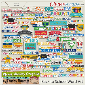 Back to School Word Art by Clever Monkey Graphics
