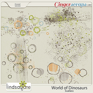 World of Dinosaurs Scatterz by Lindsay Jane