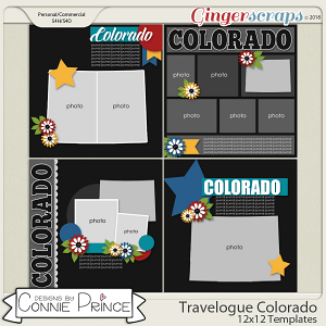 Travelogue Colorado - 12x12 Temps (CU Ok) by Connie Prince