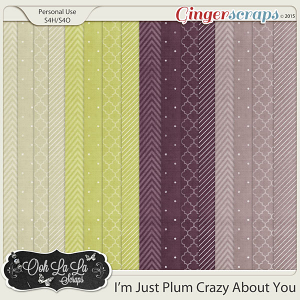 I'm Just Plum Crazy About You Pattern Papers
