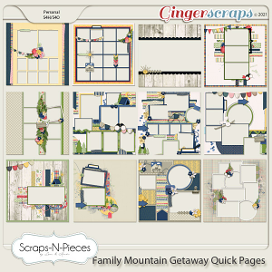 Family Mountain Getaway Quick Pages by Scraps N Pieces