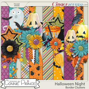 Halloween Night - Border Clusters by Connie Prince