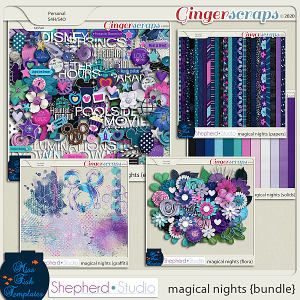 Magical Nights Digital Scrapbooking Bundle by Shepherd Studio and Miss Fish