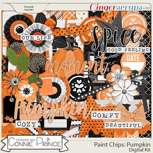 Paint Chips Pumpkin - Kit by Connie Prince
