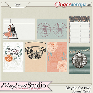 Bicycle for Two - Journal Cards