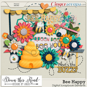 Bee Happy Element Pack