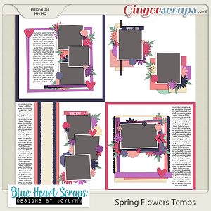 Spring Flowers Template Pack