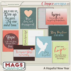 A Hopeful New Year JOURNAL CARDS by MagsGraphics
