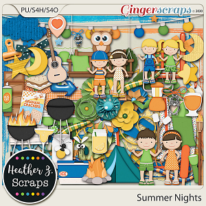 Summer Nights ELEMENTS by Heather Z Scraps