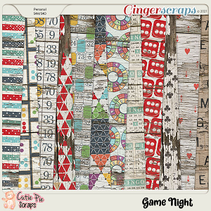 Game Night Wood Papers