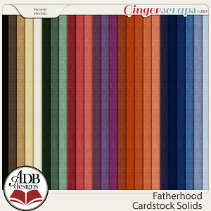 Fatherhood Solid Papers by ADB Designs