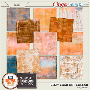 Cozy Comfort Artsy Papers by JB Studio and Aimee Harrison Designs