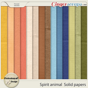Spirit animal Solid papers
