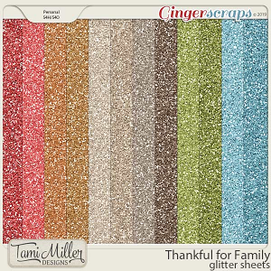 Thankful for Family Glitter Sheets by Tami Miller Designs