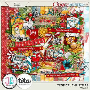 Tropical Christmas Page Kit by JB Studio and Tita