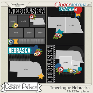 Travelogue Nebraska - 12x12 Temps (CU Ok) by Connie Prince