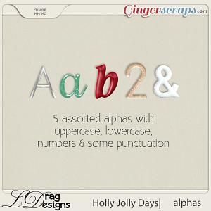 Holly Jolly Days: Alphas by LDragDesigns