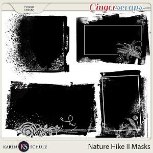 Nature Hike II Masks by Karen Schulz