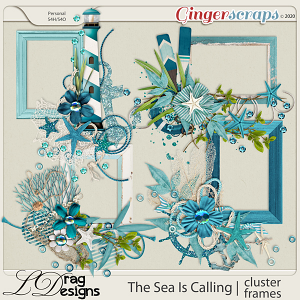 The Sea Is Calling: Cluster Frames by LDragDesigns