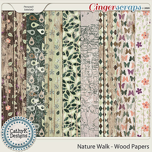 Nature Walk - Wood Papers by CathyK Designs