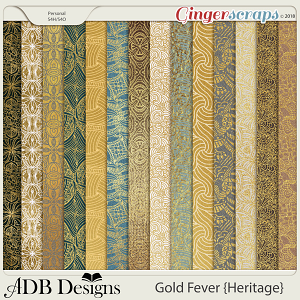 Gold Fever Heritage Gilded Papers by ADB Designs