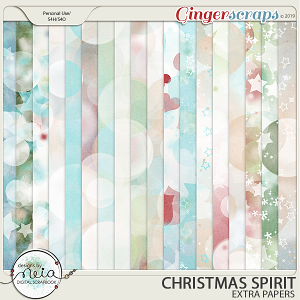 Christmas Spirit - Extra Papers - by Neia Scraps