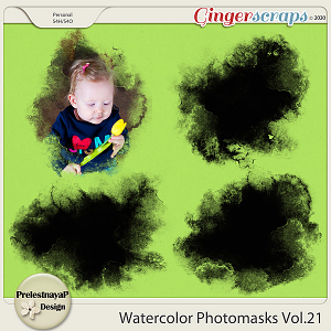 Watercolor photomasks Vol.21