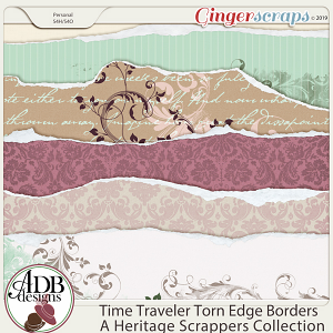 Time Traveler Torn Edge Borders by ADB Designs