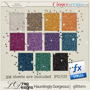 Hauntingly Gorgeous: Glitterstyles by LDragDesigns