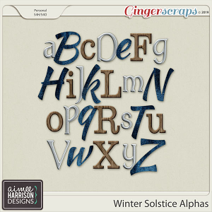 Winter Solstice Alpha Sets by Aimee Harrison