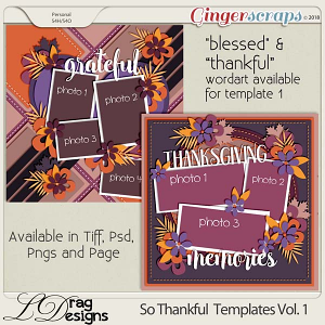 So Thankful Templates Vol.1 by LDragDesigns